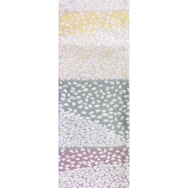 「横段桜」 両面表西陣織半幅帯