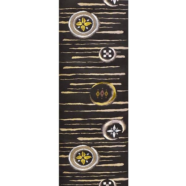 「陶彩美丸紋」両面表西陣織半幅帯