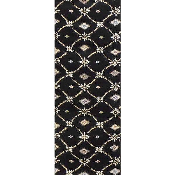 「陶彩美菱」両面表西陣織半幅帯