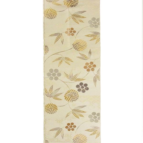 「笹蔓」両面表西陣織半幅帯