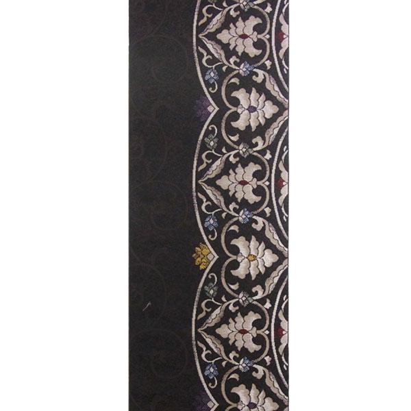 「モダン更紗」両面表西陣織半幅帯
