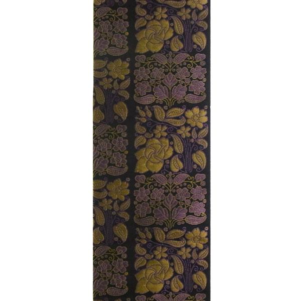 「市松更紗」両面表西陣織半幅帯