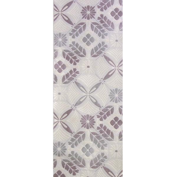 「花松菱割付」両面表西陣織半幅帯
