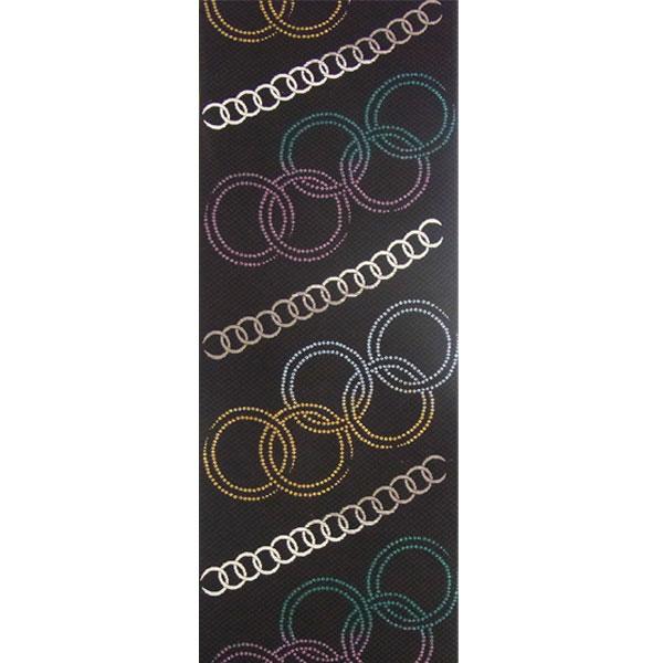 「輪繋ぎ」両面表西陣織半幅帯