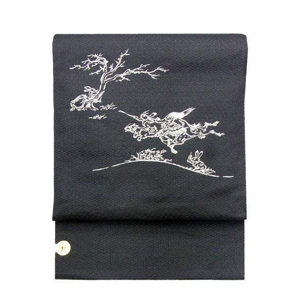 「鳥獣戯画3」西陣織名古屋帯