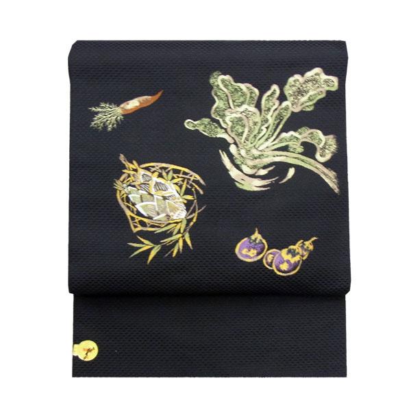 「京野菜」西陣織名古屋帯