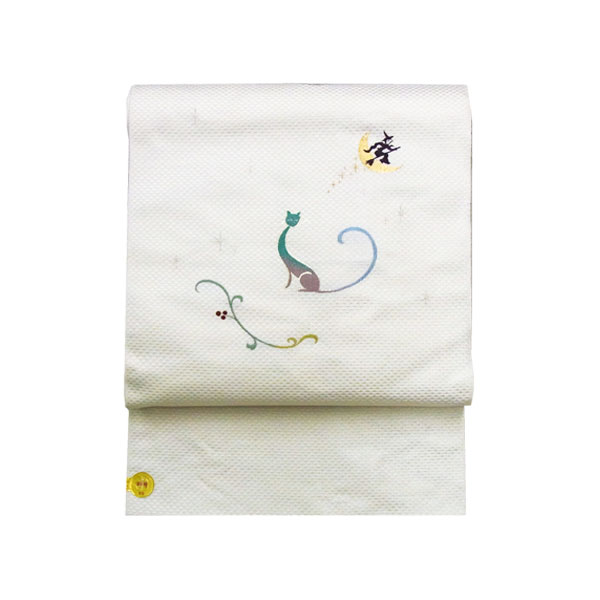 「月夜の猫」西陣織名古屋帯