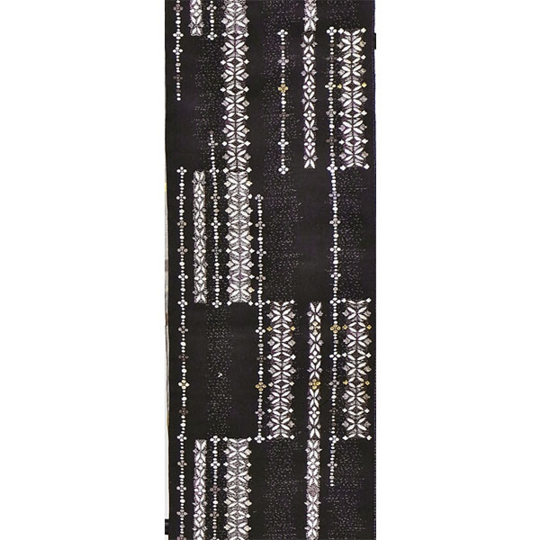 「コプト縞紋」両面表西陣織半幅帯