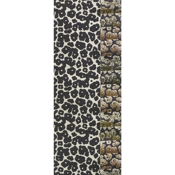 「エレガンス豹柄」両面表西陣織半幅帯