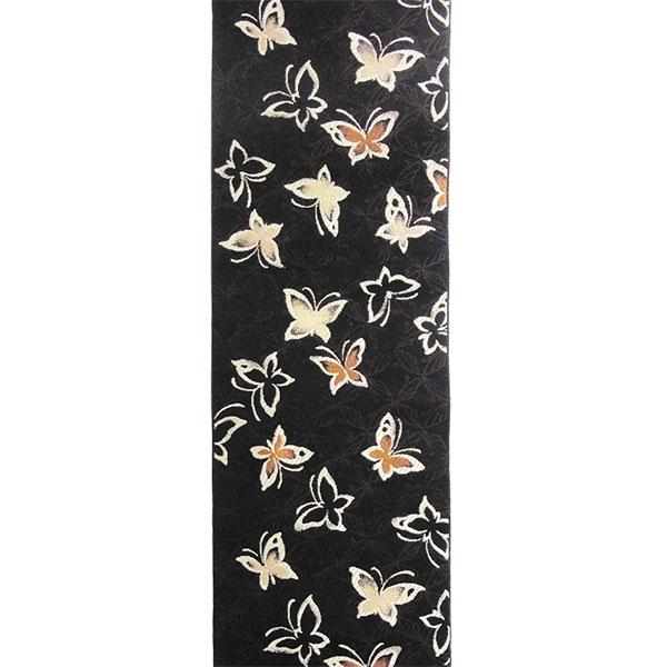 「蝶」両面表西陣織半幅帯