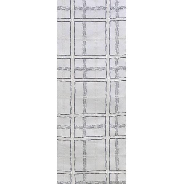 「市松格子」両面表西陣織半幅帯