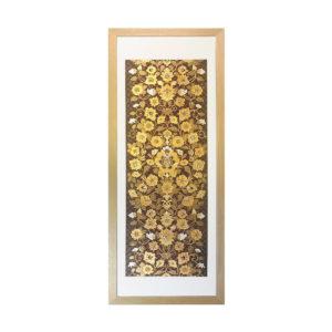 和風の額 壁掛インテリア 西陣織帯原画のアートフレーム 《2》