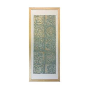 和風の額 壁掛インテリア 西陣織帯原画のアートフレーム 《3》